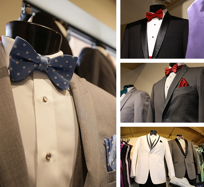 Large variety of tux styles and colors